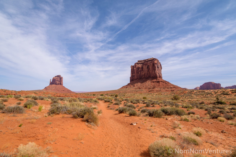 """Seeing the """"monuments"""" up close and personal on this nicely maintained trail."""