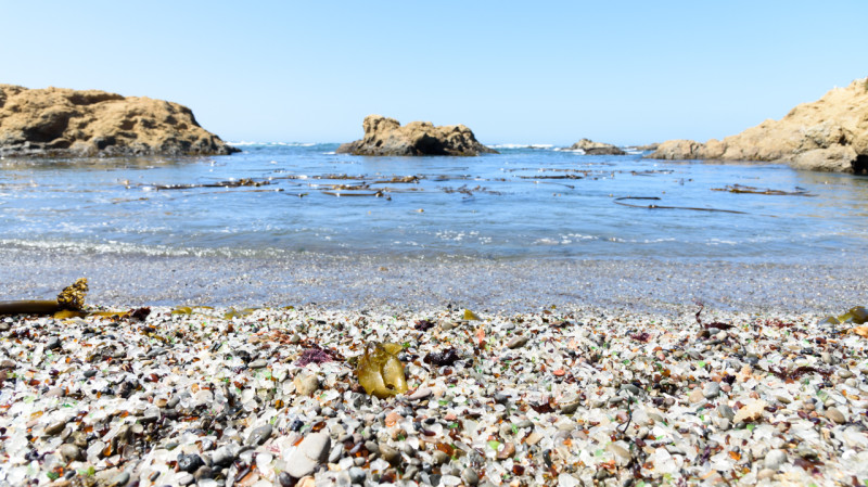 Afterward, we stopped by glass beach.